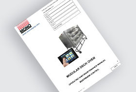 MONO DX Eco-Touch Modular Deck Oven User Manual