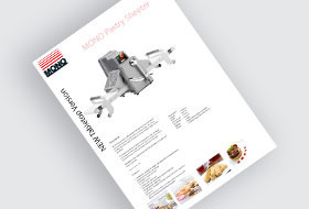 MONO Pastry Sheeter Brochure