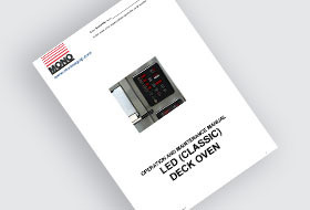 MONO DX Classic Rigid Deck Oven User Manual
