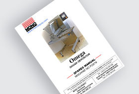 MONO Omega Confectionery Depositors Spare Parts Manual