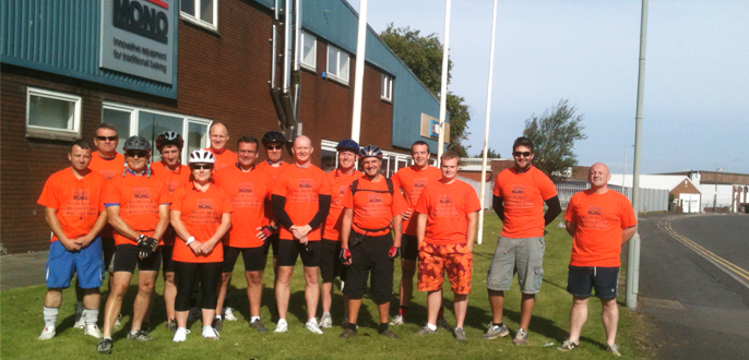 MONO's Charity Bicycle Ride Raises £1,000 for Ty Olwen