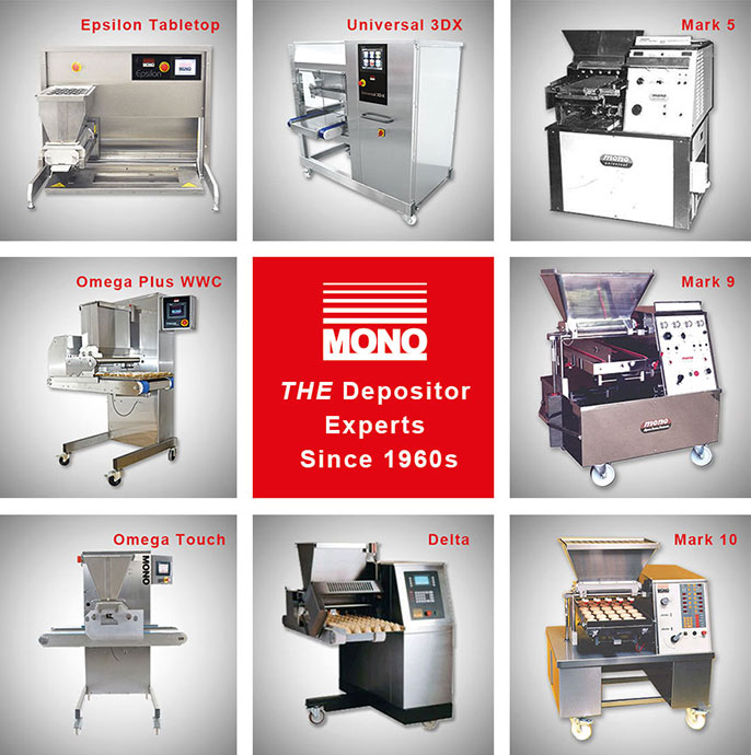 a grid of 8 mono equipment depositors dating from the 1960s to present day